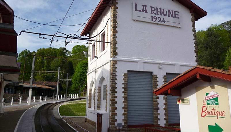 Gare du train de la rhune au Pays Basque