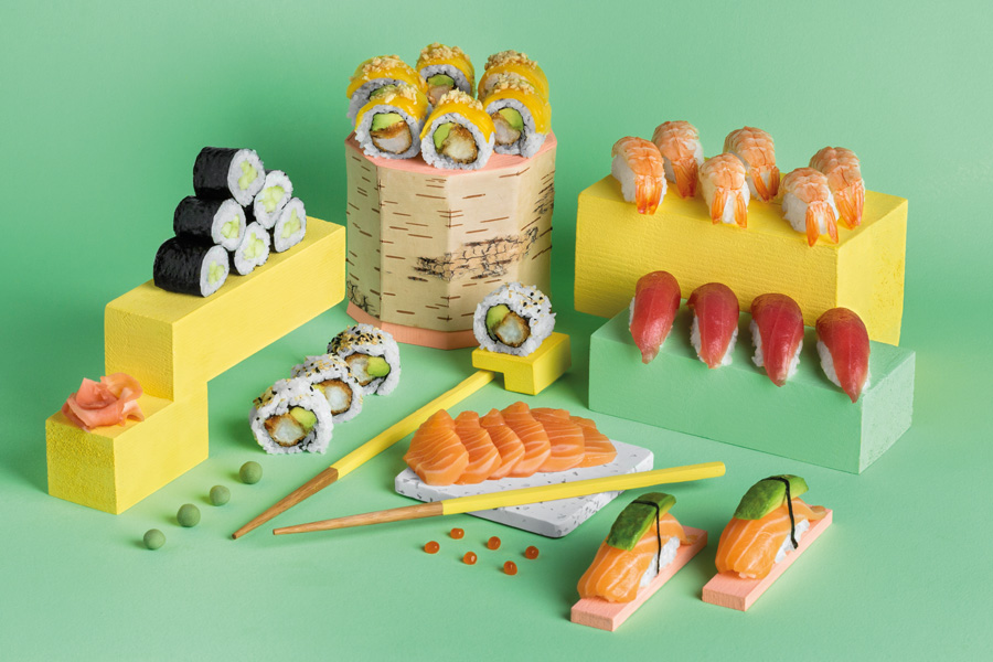 Nouvelle carte-Yousushi-sushis plateau
