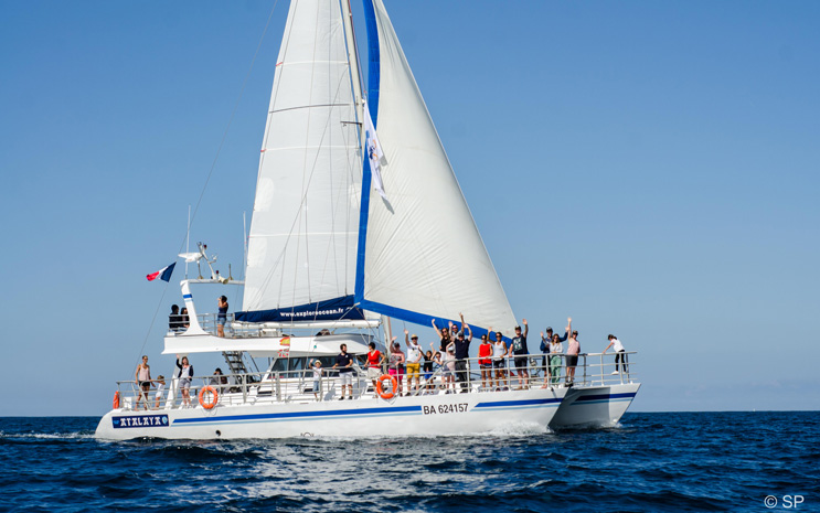 Catamaran Atalaya-Explore Océan-St jean-de-luz