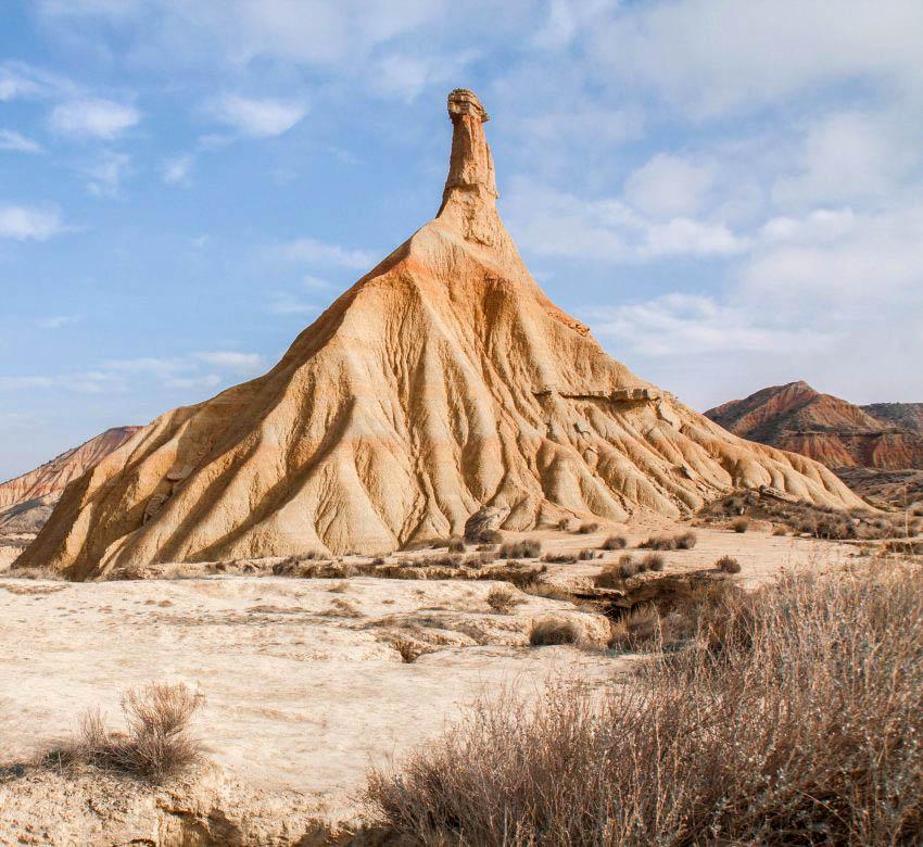 desert bardenas espagne cheminée
