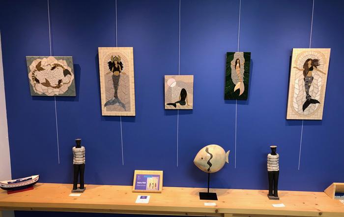 BLEU la galerie-St jean de luz-marins et mosaiques